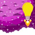 Lampa- rocket flies upwards Royalty Free Stock Photo