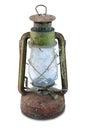 Lampada a olio di rusty antique Immagine Stock