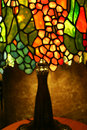 Lampe en verre de souillure Photographie stock