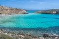 Lampedusa beach and rabbit island a beautiful panorama Royalty Free Stock Image