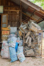 Lamphun thailand – march zero waste village preparing wa for recycling at ban nam phu Stock Images