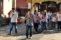 Lamphun, Thailand: Thais Making Merit Royalty Free Stock Photo