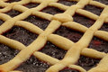Lampone Crostata - torta italiana Immagine Stock