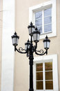 Lamppost old on a city street Royalty Free Stock Image