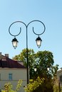 Lamppost old style with blue sky in background Royalty Free Stock Photography