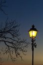 Lamppost in the sunset Royalty Free Stock Photo