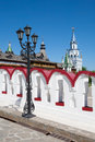 Lamppost and towers of the Moscow Kremlin Royalty Free Stock Photo