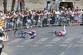 Lampre crash Royalty Free Stock Photo