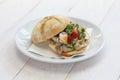 Lampredotto sandwich, italian food Royalty Free Stock Photo