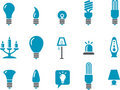 Lamps Icon Set Royalty Free Stock Photo