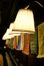 Lamps row Stock Images