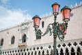 Lamptlight doge s palace in venice italy lamplight Stock Images