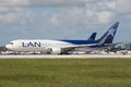 Lan Chile Airlines Boeing 767 Aircraft Stock Photos