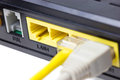 Lan router close up Stock Photo