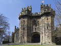 Lancaster castle lancaster england is a medieval located in in the english county of lancashire its early history is unclear but Stock Photos