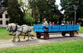 Lancaster, PA: Children on Wagon Ride Royalty Free Stock Photo