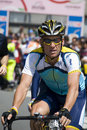 Lance Armstrong at the 100° Giro d'Italia Royalty Free Stock Photo