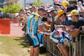 Lance Armstrong signing autographs Royalty Free Stock Photo