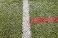 Lancement artificiel du football d herbe ou lancement futsal d intérieur Photos stock