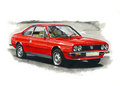 Lancia beta coupe illustration of a Royalty Free Stock Photography