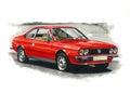 Lancia Beta Coupe Royalty Free Stock Photo