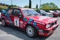 Lancia delta hf integral anguillara sabazia lazio italy april red martini racing participating at the th meeting of spring Stock Image