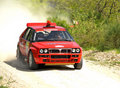 Lancia Delta HF rally car Stock Photography