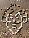 Land art - african masks Stock Photo