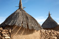 Land of the dogons typical dogon architecture male granary and female granary Stock Images
