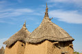 Land of the dogons typical dogon architecture male granary and female granary Stock Photos