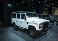 Land rover defender frankfurt international motor show iaa Royalty Free Stock Photos