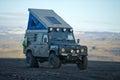 Land Rover Defender overland camper Royalty Free Stock Photo