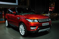 Land rover range rover suv guangzhou china november was exhibited in the th china guangzhou international automobile exhibition in Royalty Free Stock Photo