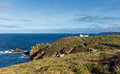 Land`s End England UK view towards Cape Cornwall and Sennen Cove Royalty Free Stock Photo