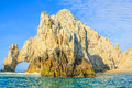 Land s end the famous rock formations of cabo san lucas el arco mesico baja della california sur located at southern and Royalty Free Stock Photography
