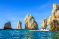 Land s end the famous rock formations of cabo san lucas el arco mesico baja della california sur located at southern and Royalty Free Stock Image