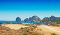 Land s end the rock formation in cabo san lucas mexico called Royalty Free Stock Image