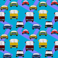 Land transportation seamless background design a for graphic element use Stock Photography