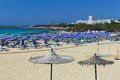 Landa beach. Agia napa, Cyprus. Royalty Free Stock Photo