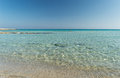 Landa beach golden beach light rippling through the beautiful water at in ayia napa cyprus Stock Image