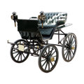 Landau an isolated antique horse drawn carriage Royalty Free Stock Photography