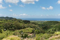 Landcape in Vallee des Couleurs in Mauritius. National Park Royalty Free Stock Photo