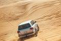 Landcruiser in Desert Safari Royalty Free Stock Photo