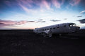 Landed on nov a dc r d belonging to the united states navy ran out of fuel and crash at sólheimasandur in south iceland there Royalty Free Stock Image