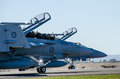 Landed Super Hornets Royalty Free Stock Photo