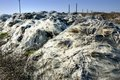 Landfill of industrial waste the glass fiber Stock Photos