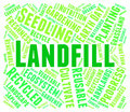 Landfill Word Represents Waste Management And Disposal Royalty Free Stock Photo