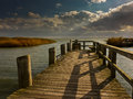 Landing stage at the baltic sea Stock Photos