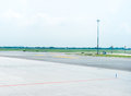 Landing strip in airport Royalty Free Stock Photo