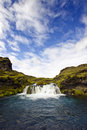 Landmannalaugar Waterfall Royalty Free Stock Images